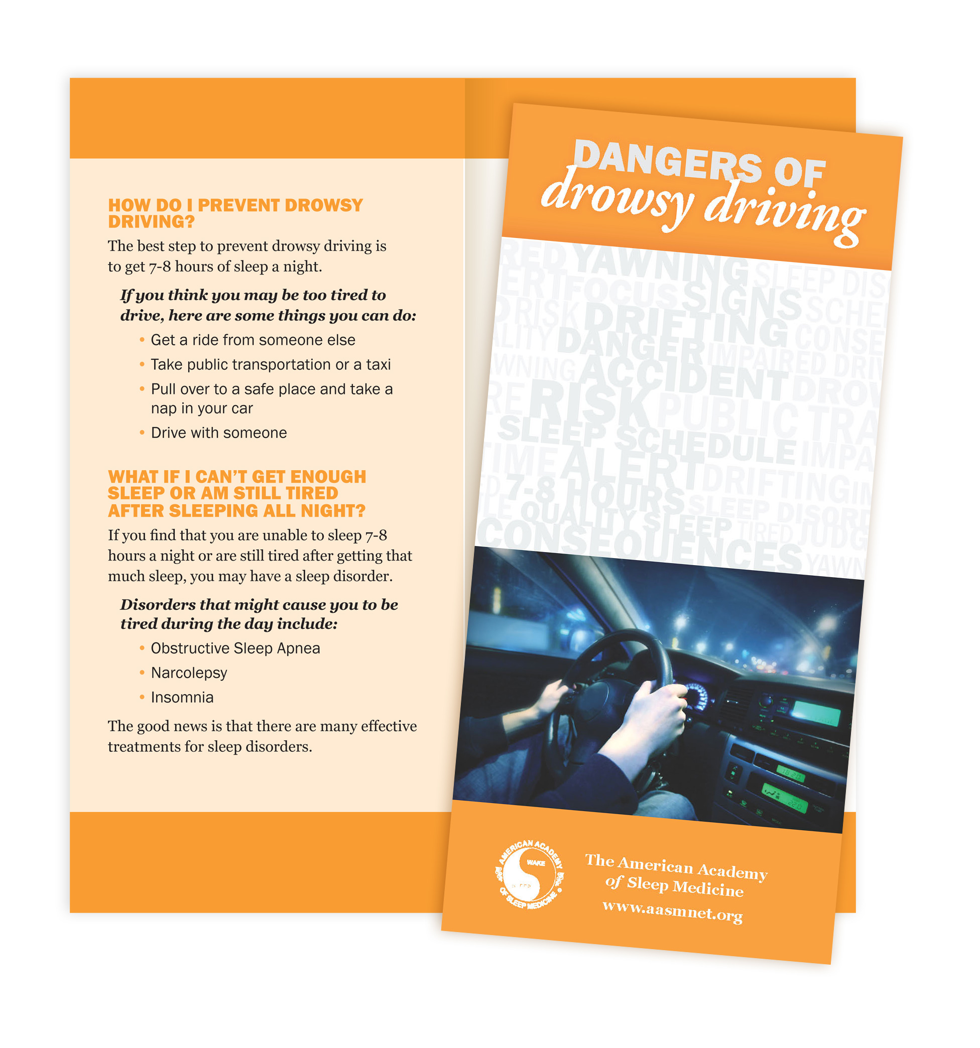 Dangers of Drowsy Driving Patient Education Brochures (50 brochures)