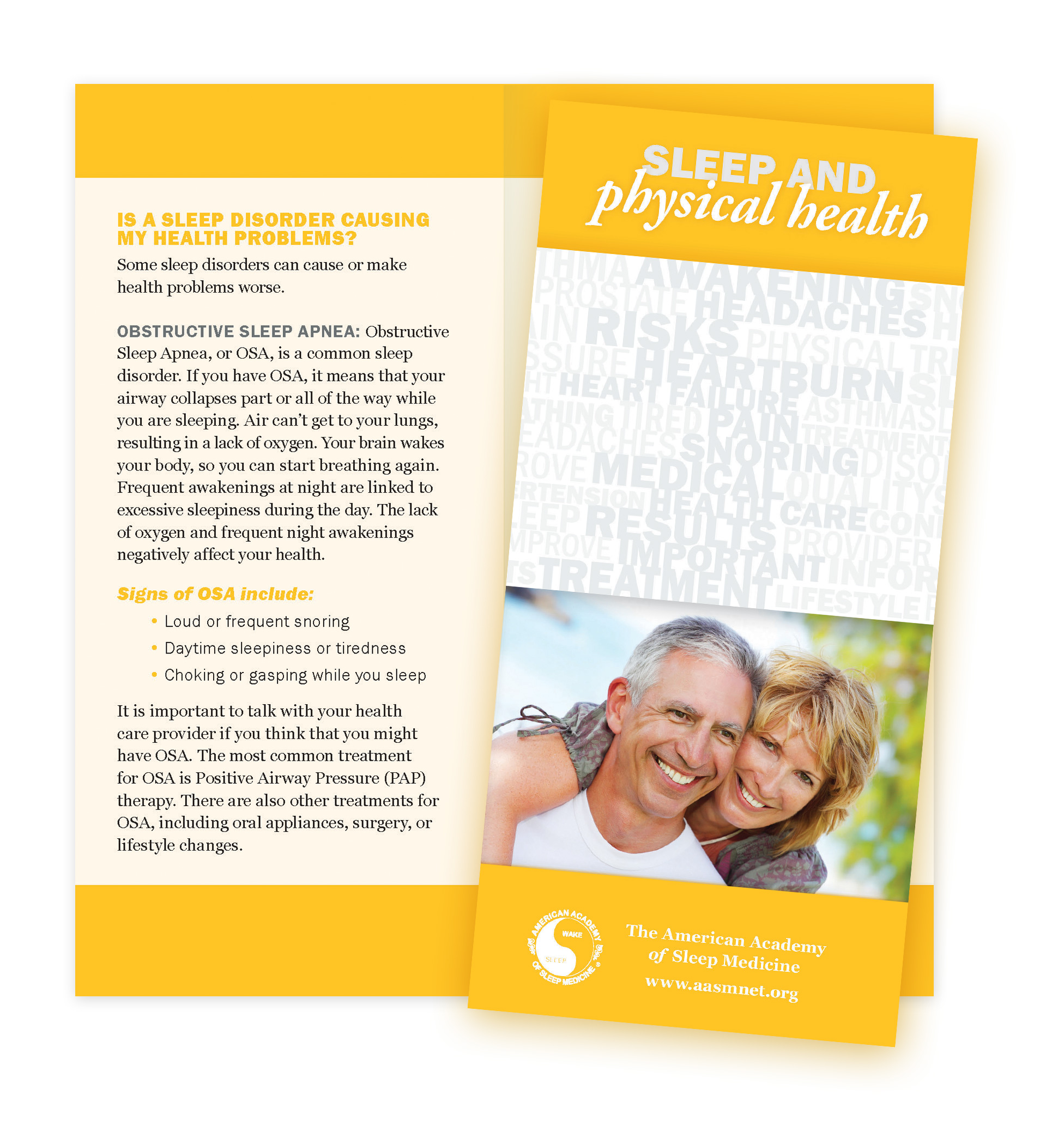 Sleep Physical Health Patient Education Brochures American Academy Of Sleep Medicine AASM