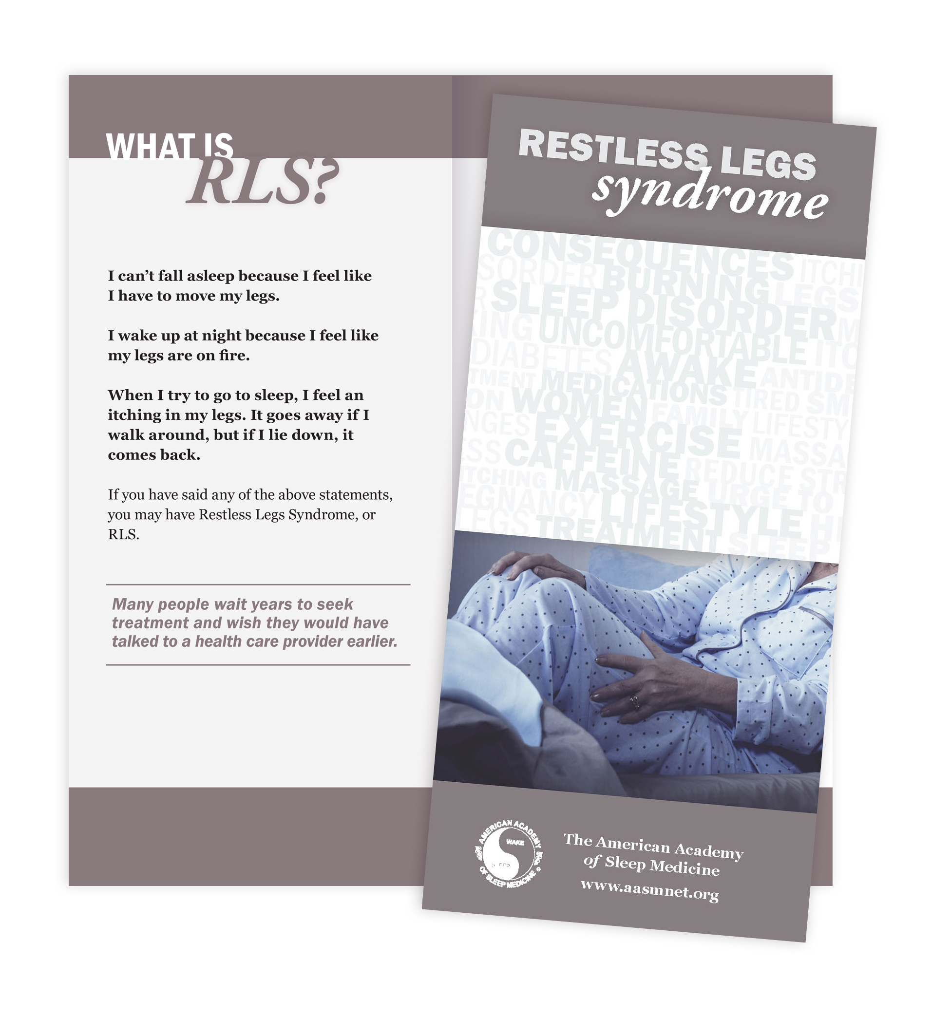 Restless Legs Syndrome Patient Education Brochures (50 brochures)