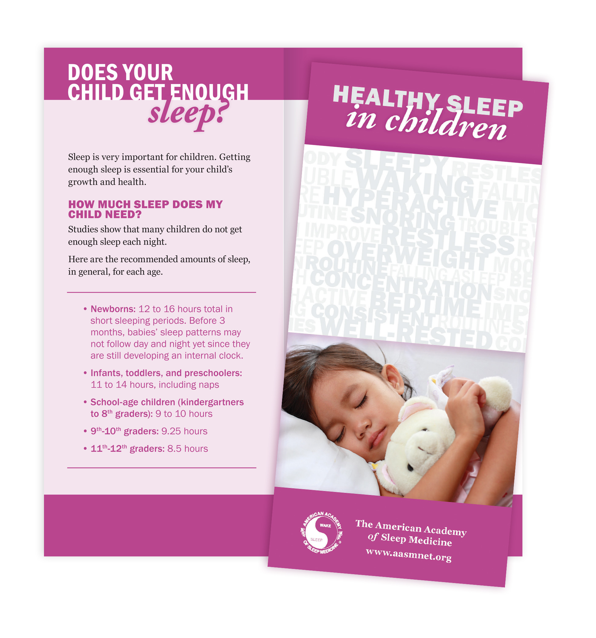 Healthy Sleep In Children Patient Education Brochures American Academy Of Sleep Medicine AASM