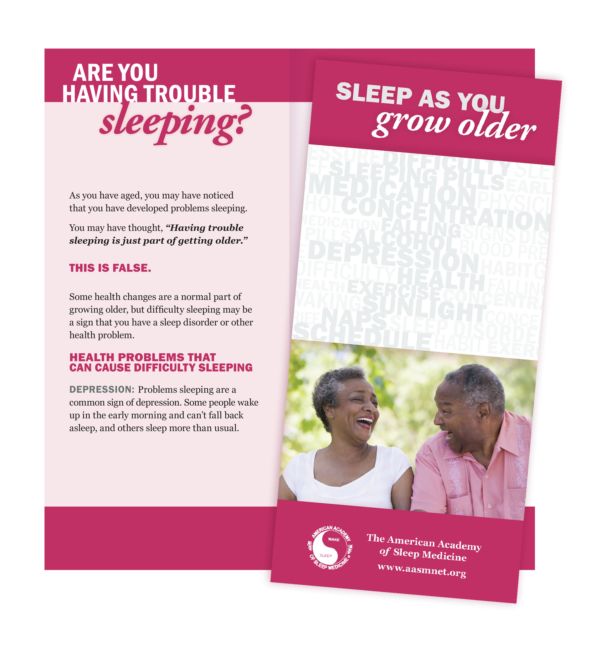 Sleep as You Grow Older Patient Education Brochures (50 brochures)
