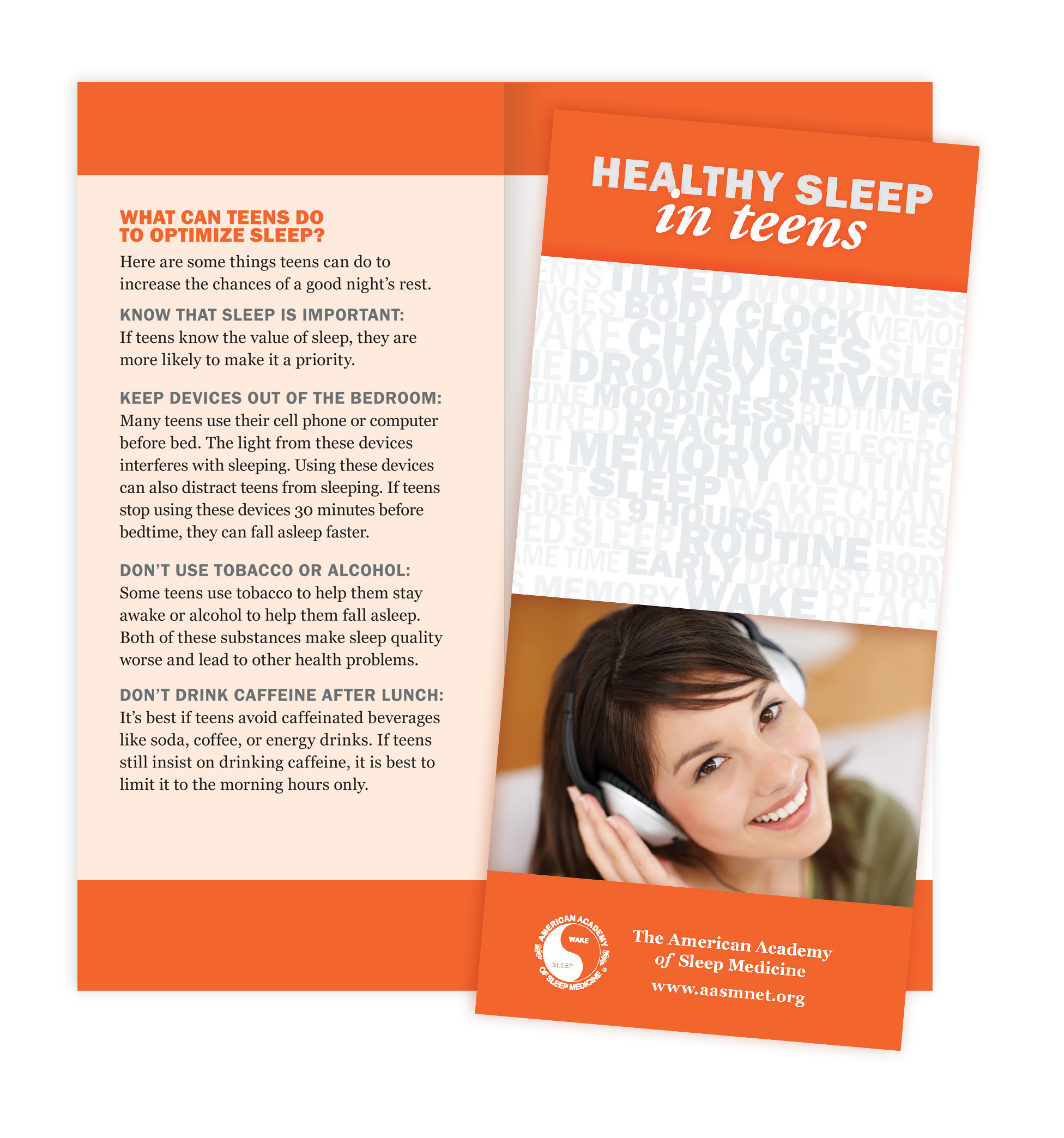 Healthy Sleep in Teens Patient Education Brochures (50 brochures)