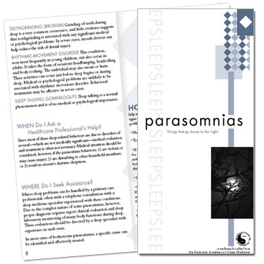 Parasomnias Patient Education Brochures (50 brochures)