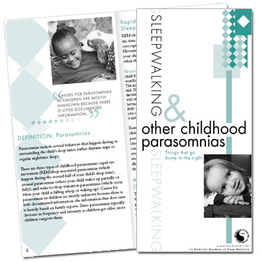 Sleepwalking & Other Childhood Parasomnias Patient Education Brochures (50 brochures)